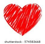 Vector Heart Shape Frame With...