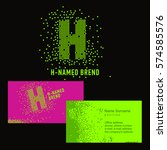 template h brand name  company. ... | Shutterstock .eps vector #574585576