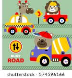 busy in the city road vector... | Shutterstock .eps vector #574596166