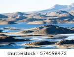 volcanic land view in the... | Shutterstock . vector #574596472