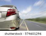 car of accident make rear...   Shutterstock . vector #574601296