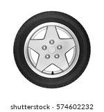 car wheel on white    Shutterstock . vector #574602232