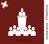 leader icon   Shutterstock .eps vector #574605142