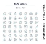 vector graphic set.icons in... | Shutterstock .eps vector #574607956