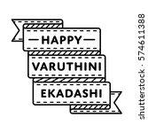 happy varuthini ekadashi emblem ... | Shutterstock . vector #574611388