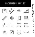 set of measuring icons in... | Shutterstock .eps vector #574612072