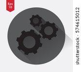 settings symbol. simple flat...   Shutterstock .eps vector #574615012