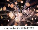abstract background fiber...   Shutterstock . vector #574617022