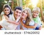 happy family. | Shutterstock . vector #574620052