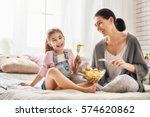 happy loving family. mother and ... | Shutterstock . vector #574620862