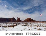 American Flag In Southwest...