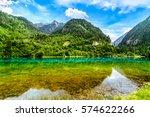 jiuzhaigou national park... | Shutterstock . vector #574622266