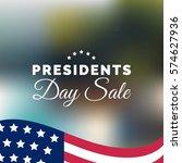 vector presidents day sale card.... | Shutterstock .eps vector #574627936