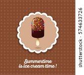 chocolate ice cream...   Shutterstock .eps vector #574633726