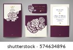 set of wedding floral... | Shutterstock .eps vector #574634896