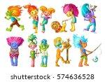 Cartoon Funny Troll Characters...