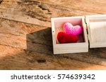 a two heart yarn with love in... | Shutterstock . vector #574639342