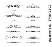 calligraphic frame set | Shutterstock .eps vector #574641802