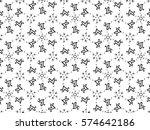 valentines arrow through the... | Shutterstock .eps vector #574642186