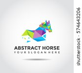 abstract horse logo template.... | Shutterstock .eps vector #574643206