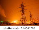 power transmission line support | Shutterstock . vector #574645288