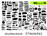 big collection of black paint ... | Shutterstock .eps vector #574646962