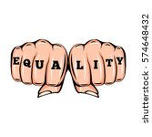 equality tattoo. feminism... | Shutterstock .eps vector #574648432