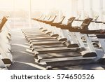 modern gym interior with... | Shutterstock . vector #574650526
