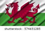 wales waving flag | Shutterstock . vector #574651285