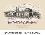 industrial factory  plant... | Shutterstock .eps vector #574656982