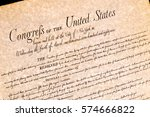 bill of rights united states of ... | Shutterstock . vector #574666822