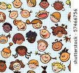 vector seamless pattern of kid...