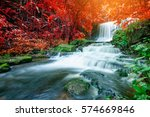 Amazing Waterfall In Autumn...