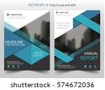 blue triangle vector brochure... | Shutterstock .eps vector #574672036
