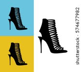 women's shoes icon vector... | Shutterstock .eps vector #574677982