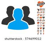 user group icon with bonus... | Shutterstock .eps vector #574699012