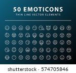 set of 50 minimal thin line... | Shutterstock .eps vector #574705846