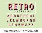 retro typography vector | Shutterstock .eps vector #574706008