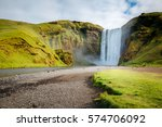 great view of skogafoss... | Shutterstock . vector #574706092