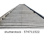 wooden pier isolated on a white ... | Shutterstock . vector #574711522