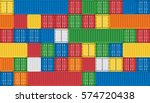 vector of colorful cargo... | Shutterstock .eps vector #574720438