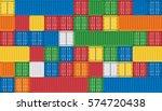 vector of colorful cargo... | Shutterstock .eps vector #574720438