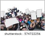 Illustration Of Crowd...