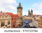 prague  czech republic  ...   Shutterstock . vector #574723786
