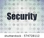 security concept  painted black ... | Shutterstock . vector #574728112