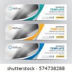abstract web banner design... | Shutterstock .eps vector #574738288