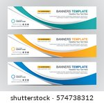 abstract web banner design... | Shutterstock .eps vector #574738312