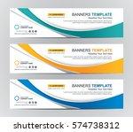 abstract web banner design... | Shutterstock .eps vector #574738312