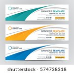 abstract web banner design... | Shutterstock .eps vector #574738318