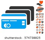 banking cards pictograph with... | Shutterstock .eps vector #574738825